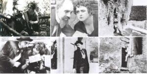 """Кадри от филма """"Дяволът в София"""" с актьора от Народния театър Иван Попов (1865–1966)"""